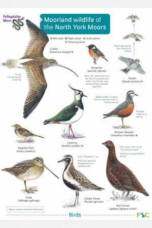 Moorland wildlife of the North York Moors Fold out chart FSC